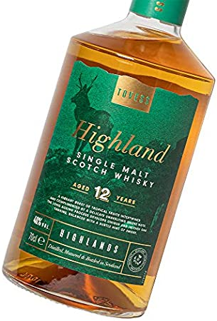 Tovess Old Highland Single Malt Scotch Whisky 12 años - 700 ml