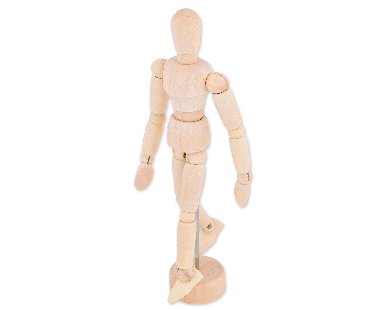 Ace Select 14cm Wooden Movable Manikin Adjustable Artist Mannequin Dummy Model