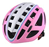 Generic Unisex Bike Helmet with Adjustable Regulator and Washable Chin Pad Durable Impact-Resistant Shell Protect Gear for Mountain Bike Racing Cycling pink