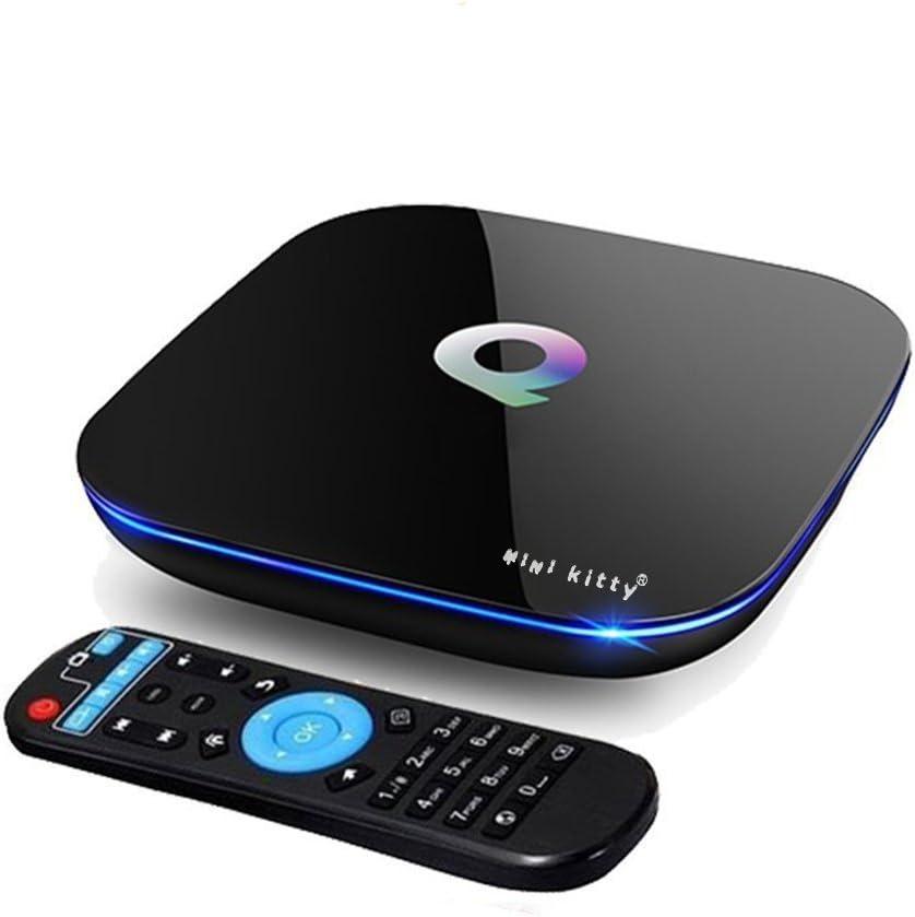 Mini Kitty Q-Box TV Box Andriod 2GB RAM 16GB ROM 4K Bluetooth 4.0 Amelogic S905 Miracast DLNA Streaming Media Players con 2.4G/5G de Doble Banda WiFi: Amazon.es: Electrónica