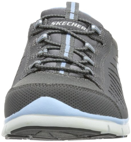 Skechers Sport Damen Gratis-In Motion Fashion Sneaker Holzkohle / Hellblau