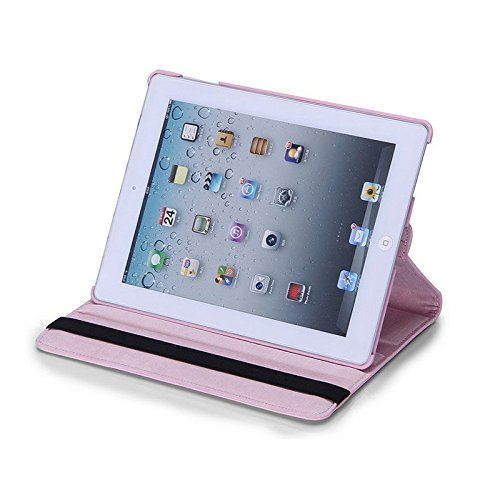 New Light Pink PU Leather 360° Rotating Stand Case Cover for iPad Mini 2 TB1Products