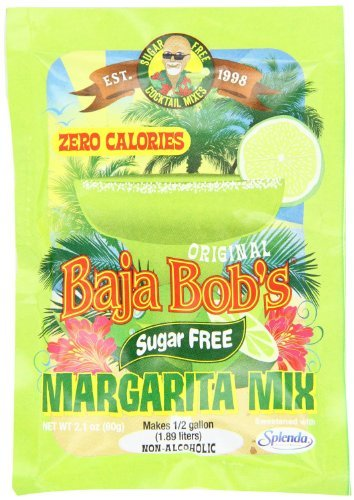 Baja Bob's Original Margarita Mix, Sugar Free, 2.1-ounce Packets - Pack of Two by Baja Bob's - Baja Bobs Margarita Mix