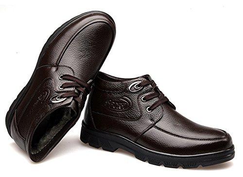 Easemax Homme Classique Low Boots à Lacets Bottines Brun 2OxvAqQ3