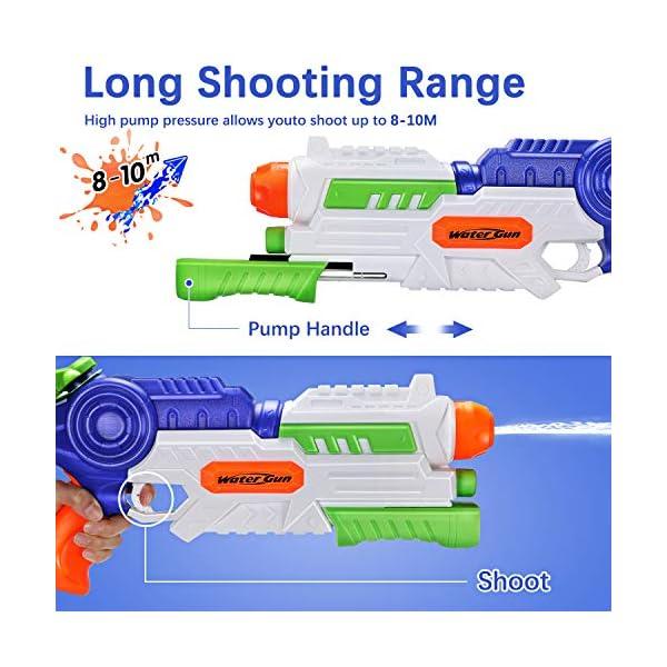 Ucradle Pistole ad Acqua Giocattolo, Squirt Gun per Bambini e Adulti, capacità 1200ML, Gamma di 8-10 Metri Summer… 3 spesavip