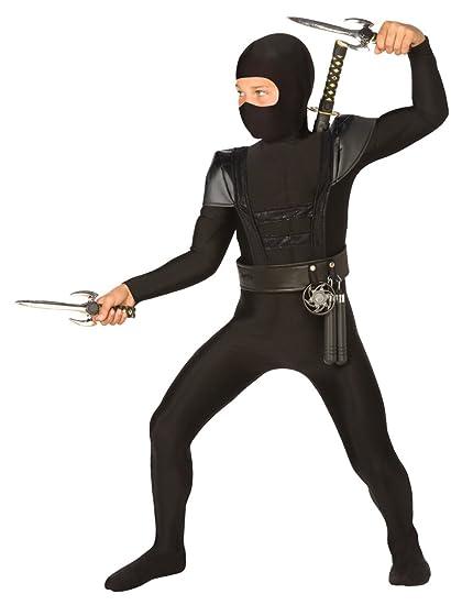 Disfraz de ninja Bristol Novelty, mono de color negro ...