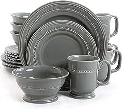Gibson Elite Barberware 16 Piece Dinnerware Set Gray  sc 1 st  Amazon.com & Amazon.com: Grey - Dinnerware Sets / Dining \u0026 Entertaining: Home ...