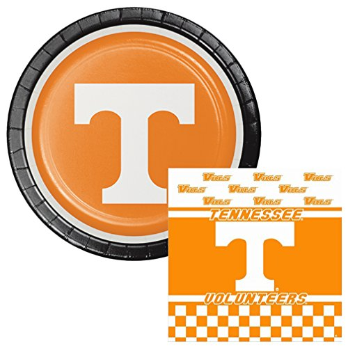 Ncaa Kit Party (Tennessee Volunteers Lunch Plates & Napkins Party Kit for 8)