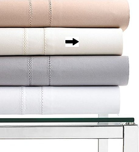 Hotel Collection 800 Thread Count Ivory Solid KING Extra Deep Fitted Sheet