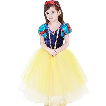 子供用 白雪姫風 ドレス+マント+カチューシャ プリンセス風 ワンピース 女児 女の子 白雪姫風
