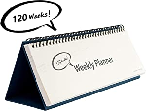 Undated Desk Weekly Daily Calendar Planner, Scheduler Memo Pad, Appointment Book, 11.8 x 4 Inches