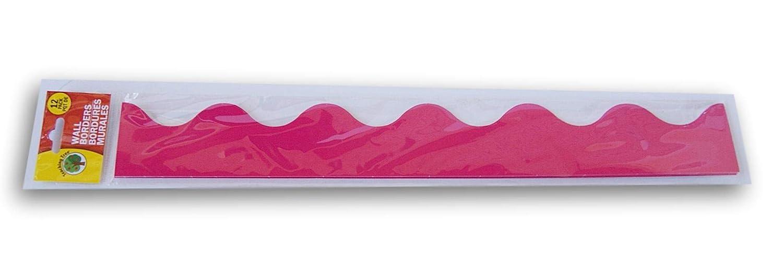 Teaching Tree Classroom Decor Hot Pink Wall Borders - Set of 12