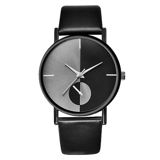 Mujeres Retro Digital Dial Banda De Cuero Artificial Reloj Analógico De Cuarzo Relojes: Amazon.es: Relojes
