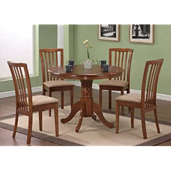 double pedestal dining room table sets jet set 5 pc chairs dark oak finish this item