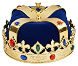Costume Crown Royal Crown for King Or Queen (Blue)