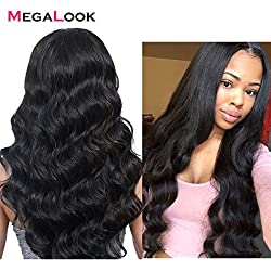 Megalook 360 Lace Frontal Wig with Baby Hair Brazilian Body Wave Human Hair Wigs with Pre Plucked Hairline Human Hair Lace Wigs Glueless 150% Density