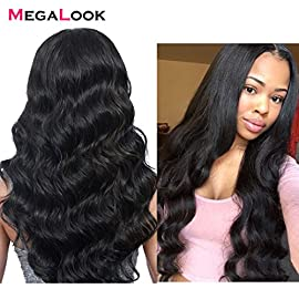 Megalook Lace Front Wigs Human Hair Brazilian Hair Body Wave Human Hair Wigs For Black Women 13×4 Lace Frontal Wigs Pre…