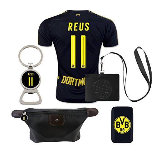 #11 Reus (6 in 1 Combo) Dortmund Away Match Adult Soccer Jersey 2016-17