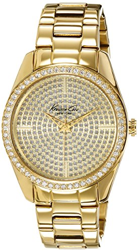 Kenneth Cole New York Women's Quartz Stainless Steel Case  Stainless Steel Bracelet Gold,(Model:KC4957)