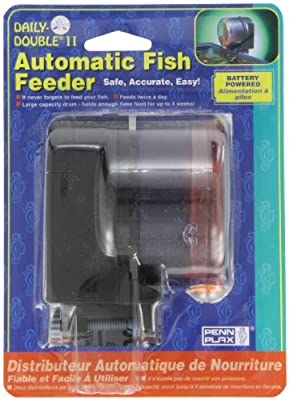 Penn-Plax Daily Double II Battery-Operated Automatic Fish Feeder from Penn-Plax