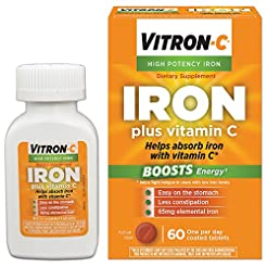 Vitron-C High Potency Iron Supplement wi...