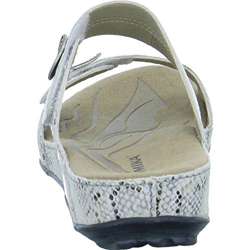 Romika Fidschi 22, Sandalias con Punta Cerrada Para Mujer White (White Combi 77 001)