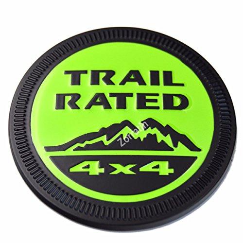 [해외]zorratin 금속 흔적은 지프 랭글러 무제한 JK Cherookee 루비콘에 대한 4x4 라운드 엠블럼 배지 정격 자유 애국자 래티튜드/zorratin Metal Trail Rated 4x4 Round Emblem Badge for Jeep Wrangler Unlimited JK Cherookee Rubicon Liberty Patriot ...