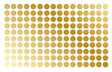 """Polka Dot Wall Decal Nursery Kids Room Peel and Stick Removable Sticker Circle Pattern Decor #1326 (1.5"""" (150 Dots), Gold)"""