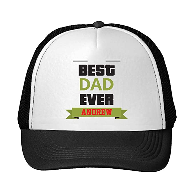 55039eb9eea Personalized Custom Text Family Best Dad Ever Unisex Adult Snaps Polyester  Trucker Hat Adjustable Cap -