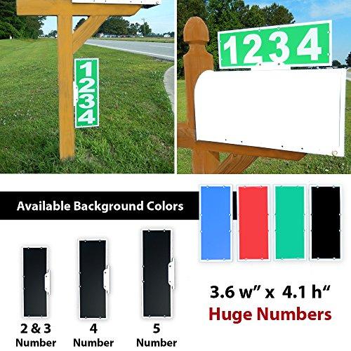 Mailbox Address Plaque, Green Horizontal or Vertical, Reflective 911 Plate, Most Visible Mailbox Address Marker Money Can (Mailbox Address Topper)
