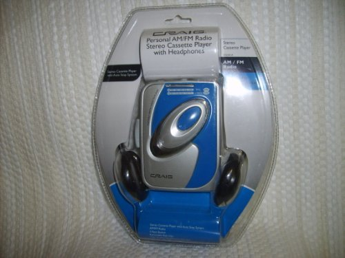 Craig Electronics CS2301A Personal AM/FM Stereo Radio Cassette Player with Headphones (Electronics Tape Player)