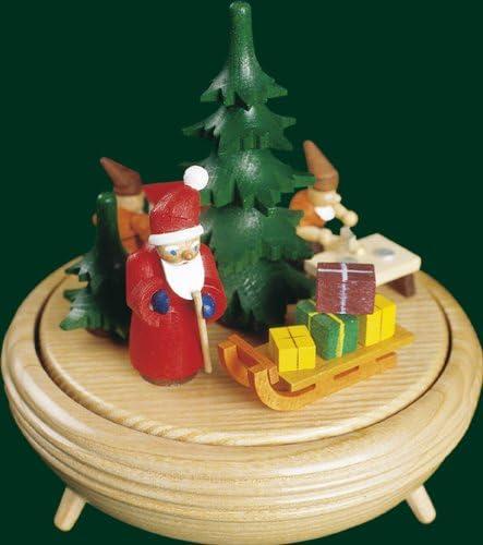 Montañas musicales del mineral del mecanismo el 15cm del reloj de la caja musical del taller musical de la Navidad NUEVAS: Amazon.es: Hogar