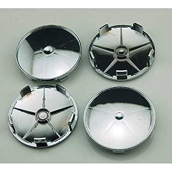 AmerStar 4PCS Chrome Silver 68mm Universal r Car Wheel Center Hub Caps Covers Set With No Logo