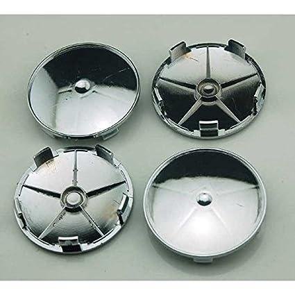 Amazon.com: 4pcs No Logo 68mm Car Styling Accessories Chrome Wheel Hub Caps Center Caps Cover: Automotive