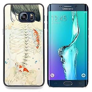 "Planetar ( Dibujo Aves Significado Arte Profundo"" ) Samsung Galaxy S6 Edge Plus / S6 Edge+ G928 Fundas Cover Cubre Hard Case Cover"