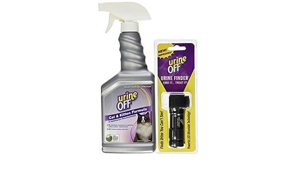 Urine Off Fórmula perro de quitamanchas y olores pulverizador Top 16.9oz (16.9oz Spray W/orina Finder Light): Amazon.es: Productos para mascotas