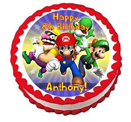 Super Mario Bros Personalized Edible Cake Topper Image -- 7.5