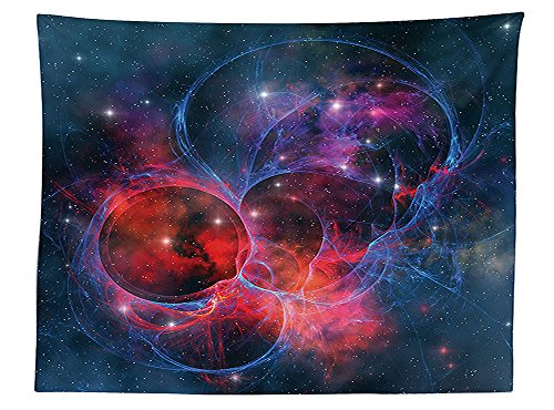 vipsung Space Decorations Tablecloth Nebula Gas Celestial Expanse in Galaxy Astral Planet Cosmos Objects Space Theme Decor Rectangular Table Cover for Dining Room Kitchen Navy (30h Gray Nebula Tables)