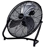 Homebasix LF-20 High Velocity Floor Fan, 20-Inch, Black