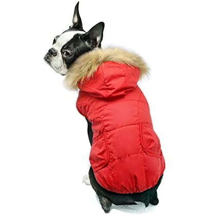 fdcc71516dcf Beirui Cold Weather Dog Clothes for Small Dogs - Warm Winter Jackets -  Windproof Ski Dog Clothes Snowsuit - Doggie Hoodies Winter Coats for Dogs  with Fur ...