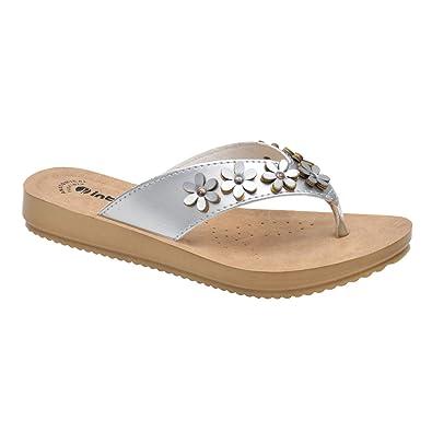 95fccfb1da4a8 INBLU Ladies Chappal - Low heal PU Sandal - Pu Sole Brown - Womens Sandal -  Low heal Fancy Chappal - Ladies Fancy Chappal - Ladies Fashion Shoes -  Womens ...