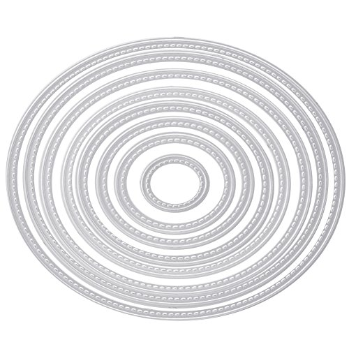 ie Cuts Creative Card Making and Papercrafting for DIY Carbon Steel Pack of 8 Silver ()