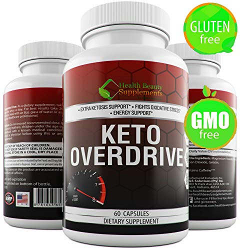 * Keto Overdrive BHB Salts, for Men & Women,Perfect for Keto Diet Beginners,Keto Supplement for Weight Loss,Next Level Ketosis. Gluten Free Carb Blocker, Carb Intercept & Cutter Pills Available Review