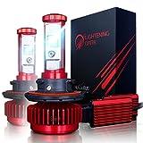 LIGHTENING DARK H13 (9008 Hi/Low) LED Headlight Bulbs Conversion Kit, CREE XPL 6K Cool White,7200 Lumen - 3 Yr Warranty