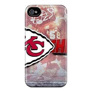 SherriFakhry Iphone 4/4s Durable Cell-phone Hard Cover Unique Design Vivid Kansas City Chiefs Pattern [BGg2057Qkli]