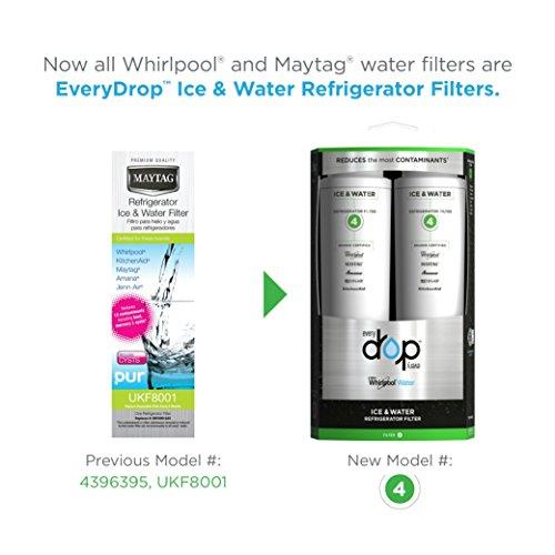EveryDrop by Whirlpool Refrigerator Water Filter 4 (Pack of 2) by EveryDrop by Whirlpool (Image #1)