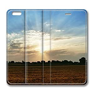iPhone 6 4.7inch Leather Case, Nature Landscape Sun And Sky 46 Personalized Protective Slim Fit Skin Cover For Iphone 6 [Stand Feature] Flip Case Cover for New iPhone 6