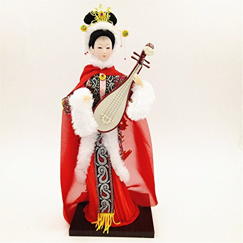 12'' Traditional Chinese Art Silk Figurine Doll Statue-Wang Zhao (Chinese Collectible Doll)