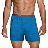 Fruit of the Loom Men's Tag-Free Boxer Shorts (Knit & Woven), Woven - 6 Pack - Exposed Waistband, X-Large