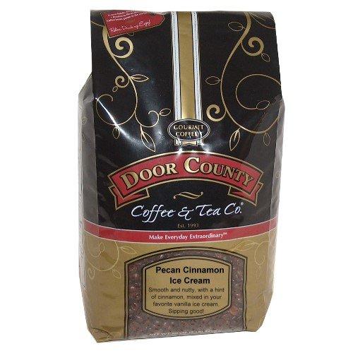 Door County Coffee, Pecan Cinnamon Ice Cream, Wholebean, 5lb Bag